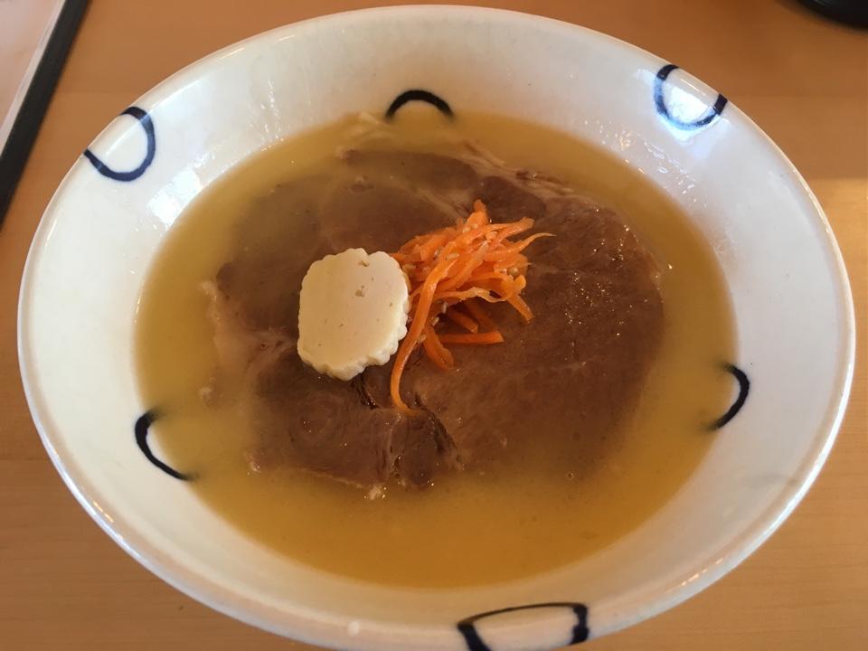 島豆腐と、おそば。真打 田仲そば